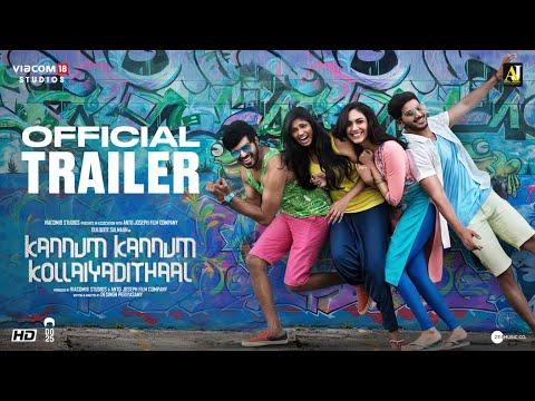 Kannum Kannum Kollaiyadithaal   Second Official Trailer   Dulquer S, Ritu V, Rakshan, Niranjani A