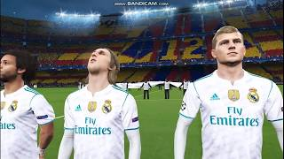 PES 2018 Gameplay PC-El Clasico FC Barcelona v/s Real Madrid