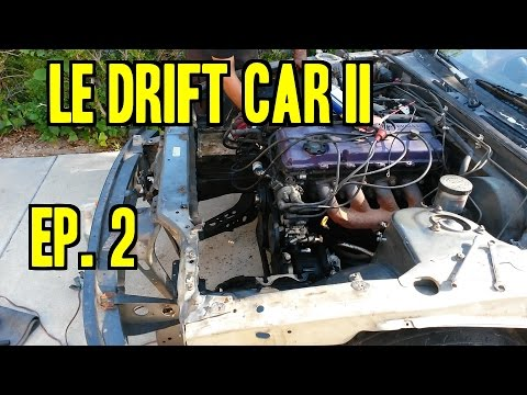 Project 240SX Le Drift Car II - Ep. 2 | Stripping for Tube Front