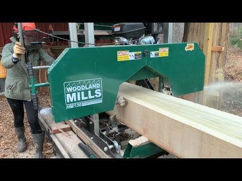 #16 - Milling A Tulip Poplar On My Woodland Mills HM130 Sawmill