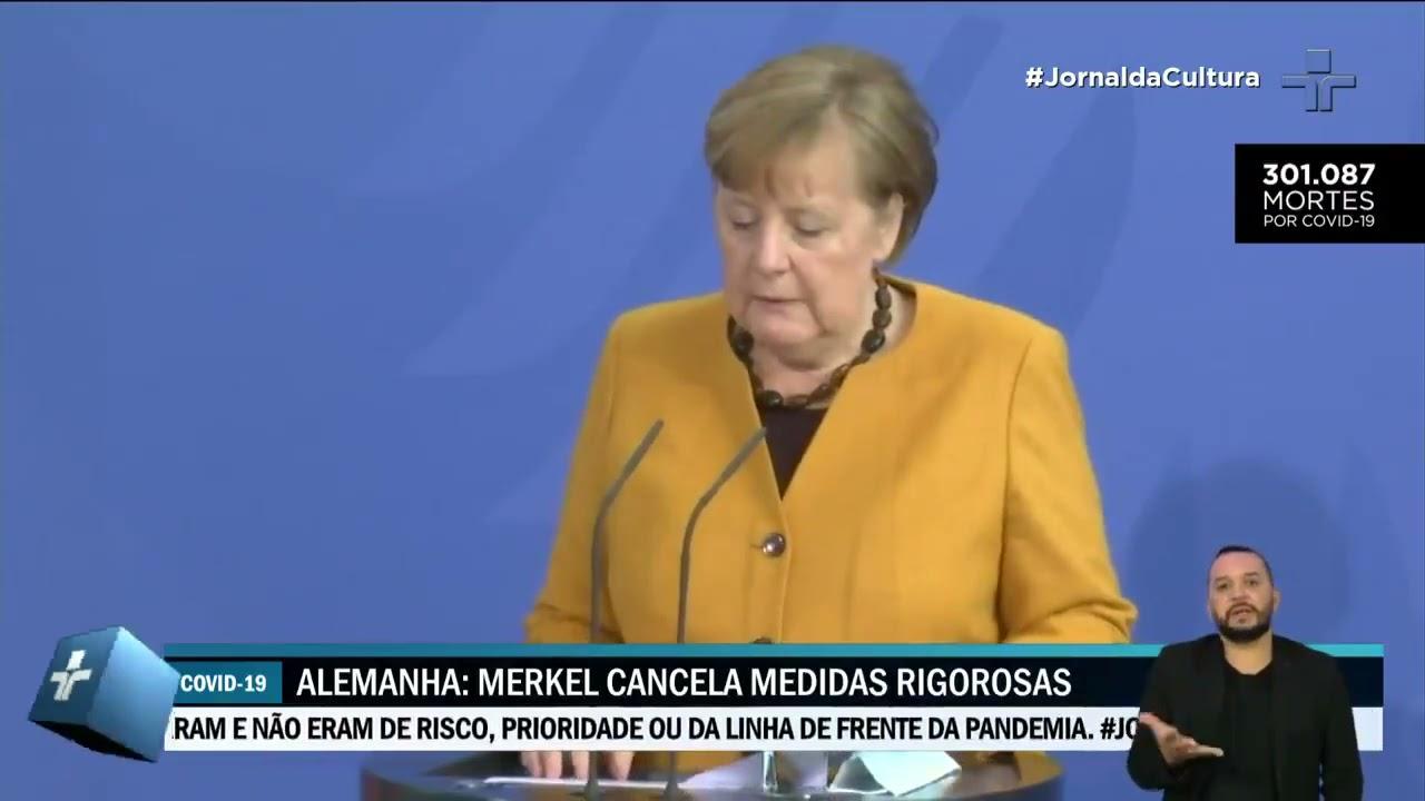 Chanceler Angela Merkel cancela confinamento mais rigoroso durante a semana santa na Alemanha