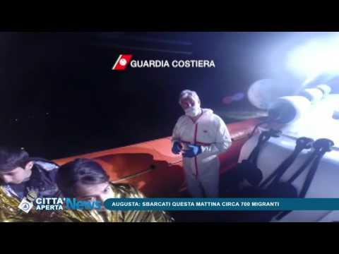 Telecittà ch 654 - Augusta, sbarcati questa mattina circa 700 migranti