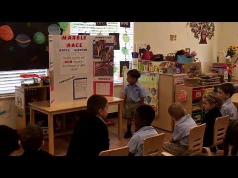 Bryce's VPK preschool science fair project at viera children's Academy