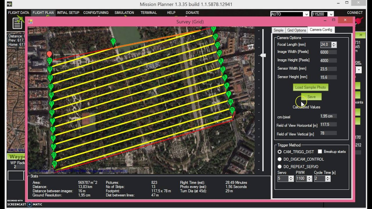How to plan a flight for your agricultural drone using mission.