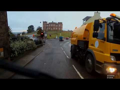 Idiot Drivers (Inverness) (refuse truck dashcam)
