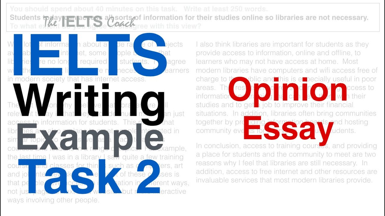 IELTS Writing Example Task 21 Opinion Essay