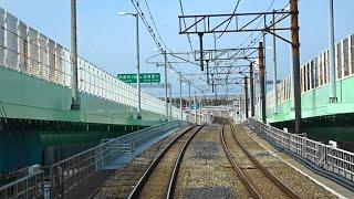 (JR・南海)りんくうタウン~関西空港間 2018年台風21号被害復旧区間前面展望 2019.3.18