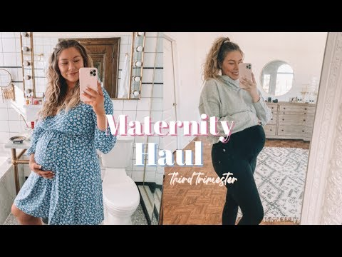 TRY ON HAUL // Third Trimester Maternity!