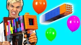 LEGO NERF GUN VS BALLOON!!