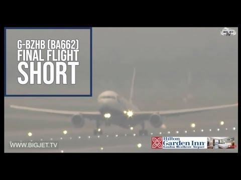 British Airways Boeing 767 Retirement - G-BZHB (BA662) LHR-LCA on the show  today #BAretireB767