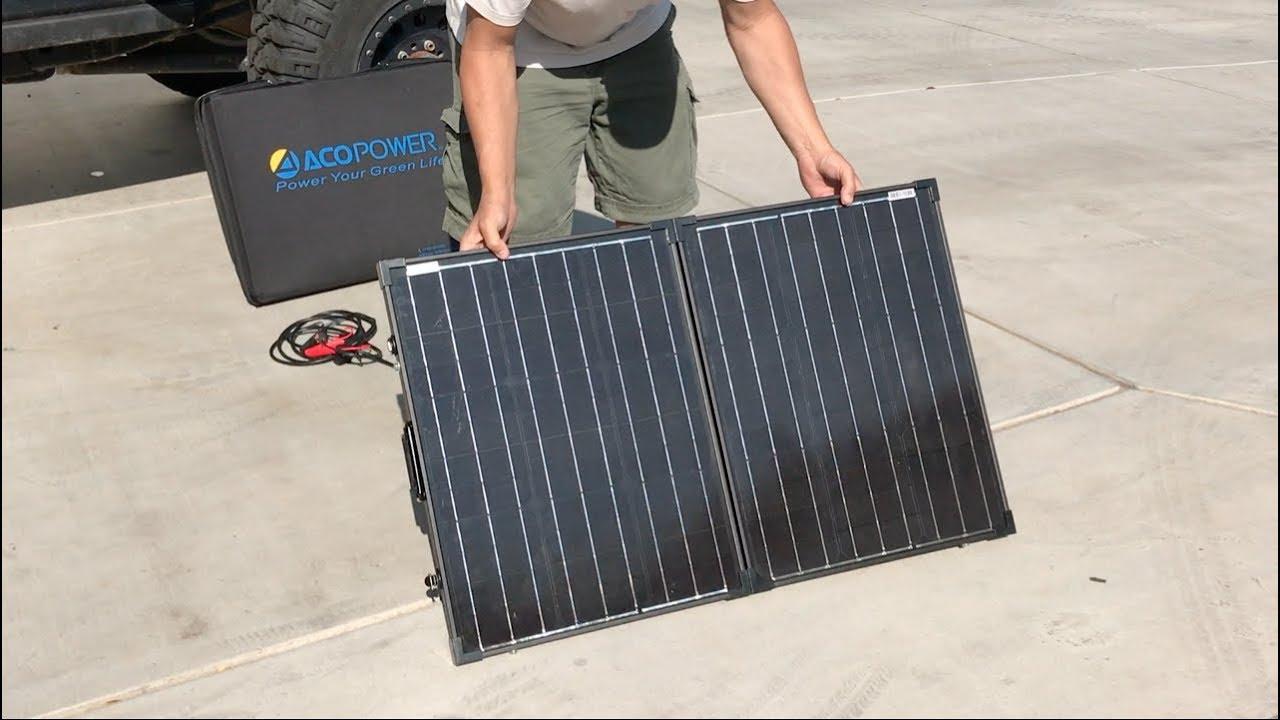 f99bc601e8b6 100W All Black Foldable Solar Panel - Customer Review