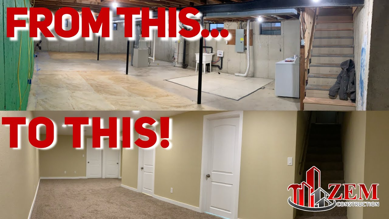 How To Finish Your Basement Remodel