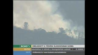 Tovább nőtt a kaliforniai tűzvész áldozatainak száma - Echo Tv