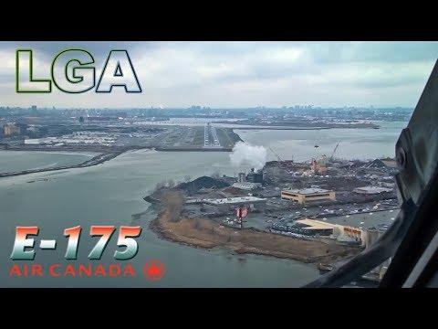 Flightdeck / Pilotviews into NEW YORK LaGuardia