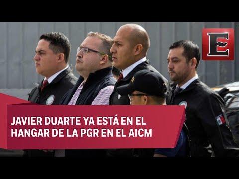 Javier Duarte llega a México procedente de Guatemala