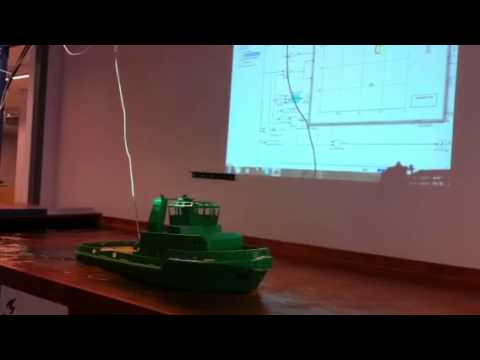Dynamic positioning model scale Tito Neri
