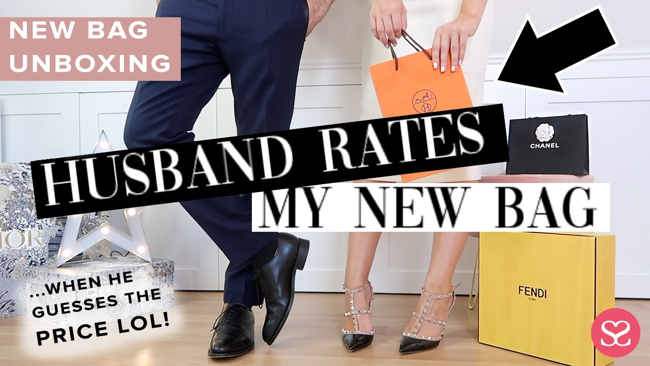 HUSBAND RATES MY NEW DESIGNER BAG ...& GUESSES PRICE... | Luxury Handbag Unboxing | Farfetch AD