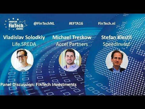 FinTech Investments panel discussion at European FinTech Awards & Conference 2016 Amsterdam