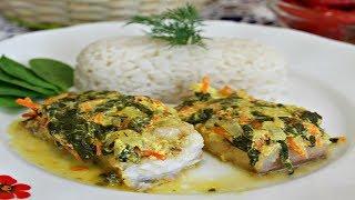 Рыба под пикантной шубой с рисом