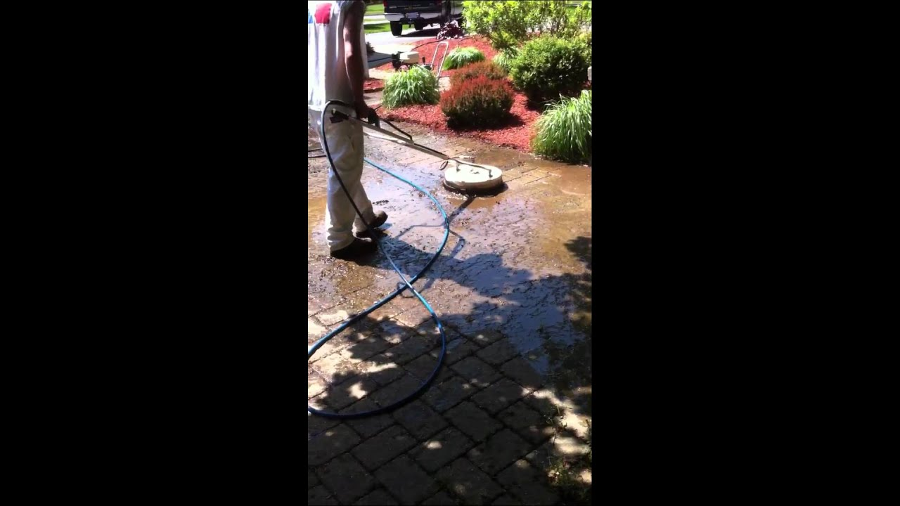 How to power wash patio pavers continued. www.allteriorpainting ...