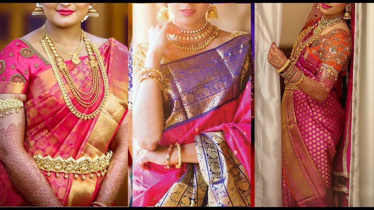 b4a79aa3b50854 Pink Kanchipuram Sarees