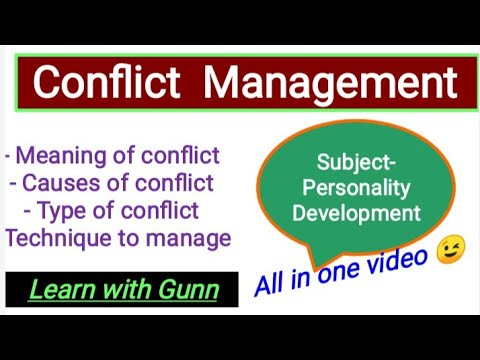Download Conflict Management,type,causesmanaging style( Hindi)How to manage conflict? personality development