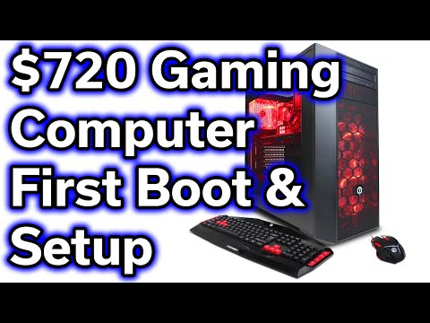$720 Gaming Computer - RX 480 4GB - i5-6402p - First Boot - Windows Update