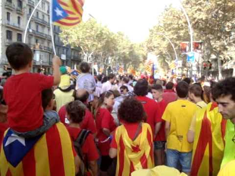 National Day of Catalona, Sep 11, 2014, demonstration for independence from Spain