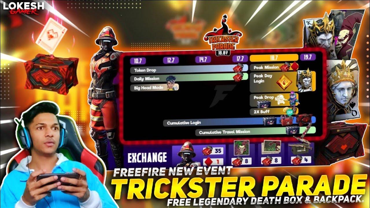 New Trickster Parade Event Got New Bundle Skin & New Pet Skin & Royal Flush BackPack Skin Free Fire