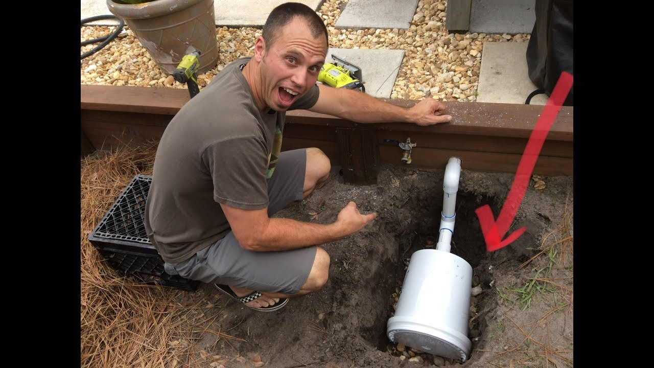 Diy Gray Water Drain Field Youtube