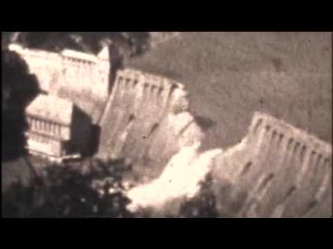 Secret german film of destroyed eder dam 1943