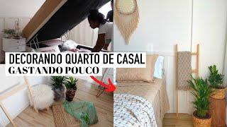 DECORANDO QUARTO DE CASAL GASTANDO POUCO estilo BOHO CHIC Camila Nunes