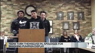 New Mexico teens apologize for wrecking pumpkin patch display