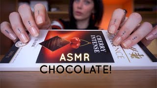 ASMR Chocolate Sounds Tapping, Scratching,Tracing, Crinkles & Eating Sounds