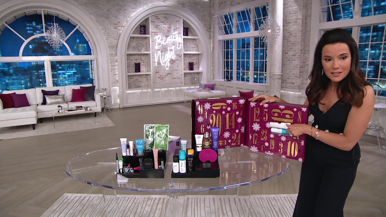 qvc beauty christmas advent calendar 24-piece collection on qvc