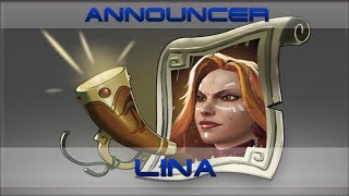 Lina Announcer Комментатор Lina