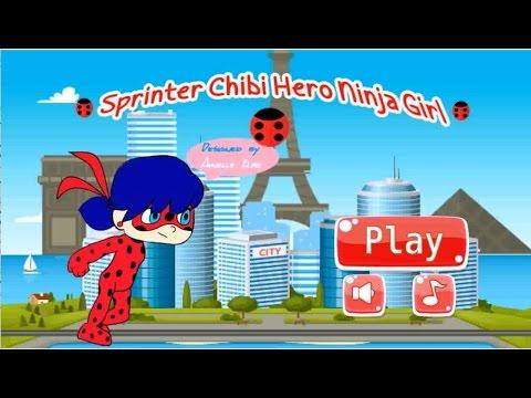 Jogo Ladybug Miraculous – Sprinter Chibi Hero Ninja Girl Online Gratis