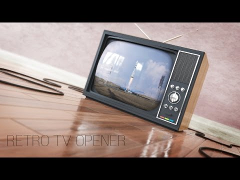 Retro TV Opener | After Effects template