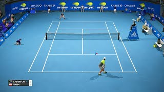 US Open 2018 - Kevin Anderson vs Dominic Thiem - AO International Tennis PC Gameplay