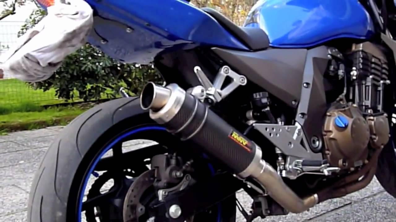 Suzuki Gsxr 600 >> Z750 2004 con scarico Mivv GP carbonio - YouTube