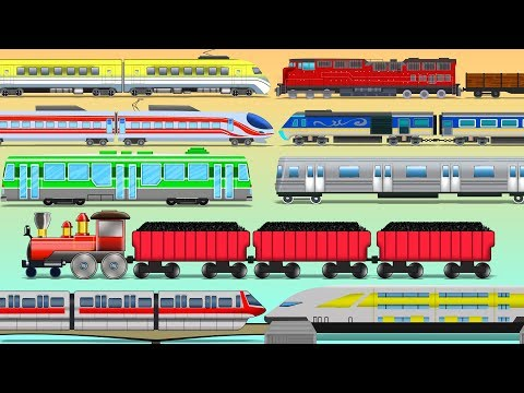 Learn Train Names   Transport Vehicles Video For Kids   educational video