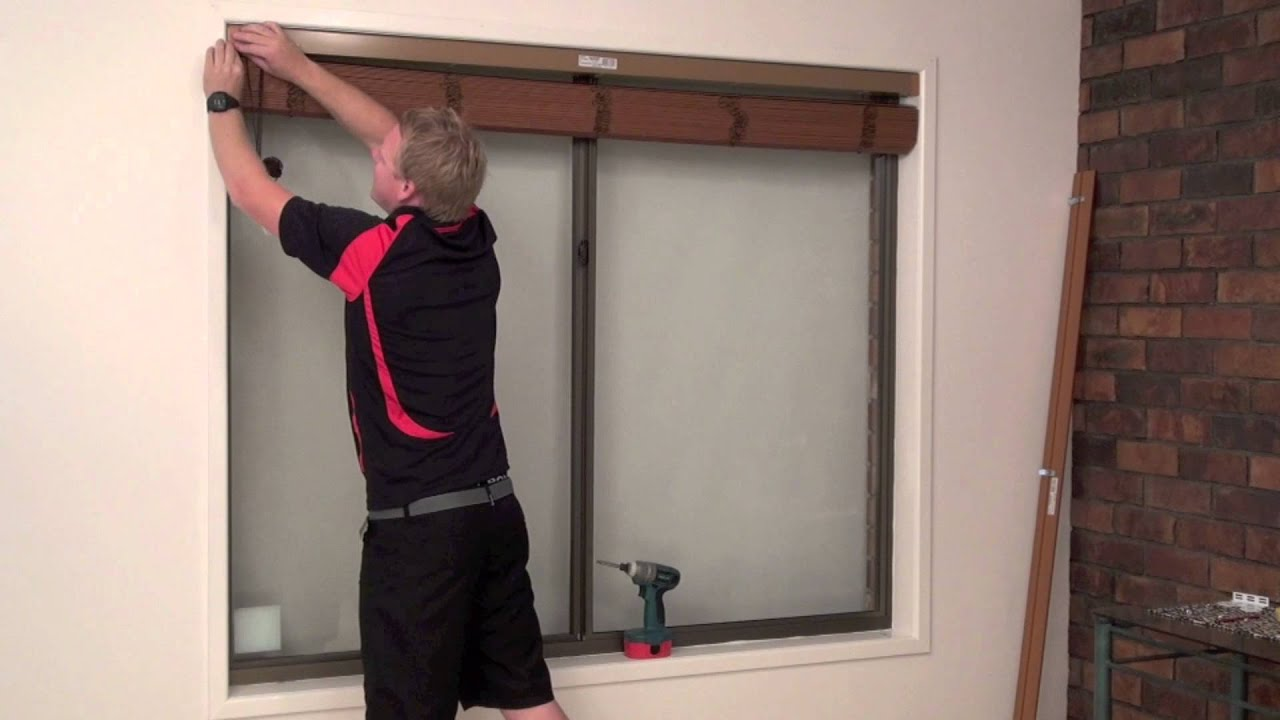 How to install a reveal or recess fit timber venetian for Blinds outside recess