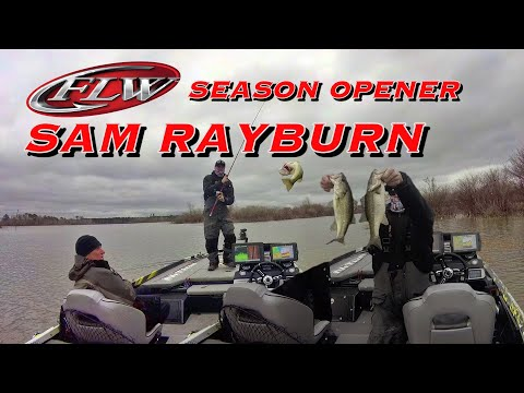 2020 FLW PRO Tour Sam Rayburn | Big Texas Bass Fishing Day 1