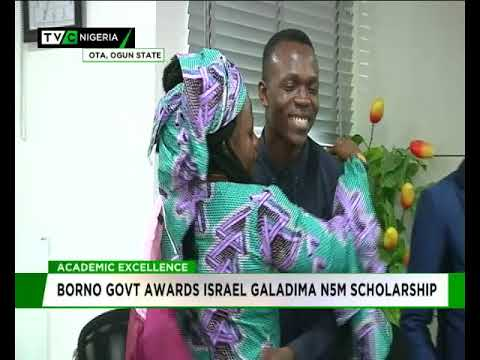 Borno Govt. awards Israel Galadima 5 million naira scholarship