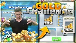 קלאש רויאל -משחקים באתגר הגולד החדש ! | משיגים טונות של זהב במשחק !!