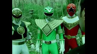 Power Ranger Dino Trueno | Tommy Oliver vs Green, White y Red Ranger | Espíritu de lucha