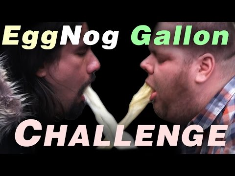 Eggnog Gallon Challenge WARNING! Projectile Vomiting