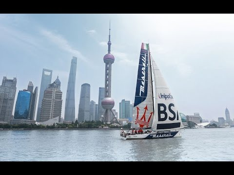 Maserati and Giovanni Soldini. S. Francisco-Shanghai New Record Set