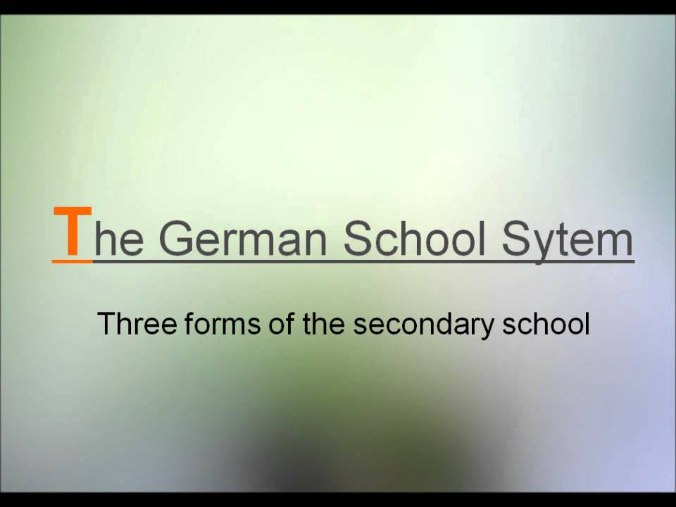 The German school system.wmv - YouTube