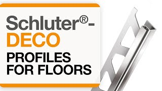 How to install a tile transition on floors: Schluter®-DECO profile